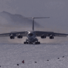 A Boeing 757 landed on the blue-ice runway in Antarctica for the first time